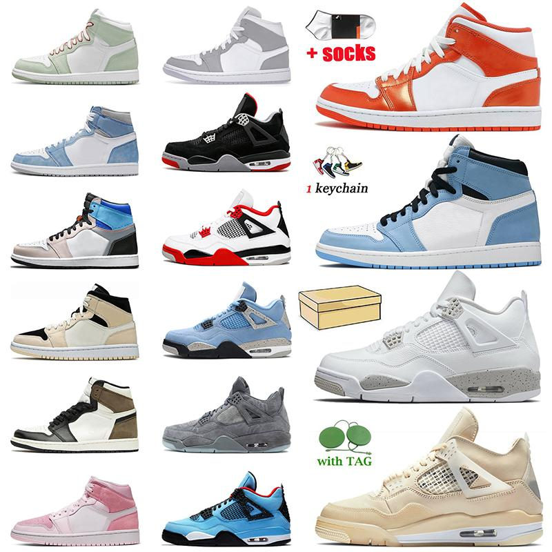 Nike Air Jordan 1 1s Retro Off White x Jordan 1 Tamanho grande US 13 com caixa de tênis masculino de basquete feminino tênis Twist Jumpman Tênis Hyper Royal Dark Mocha