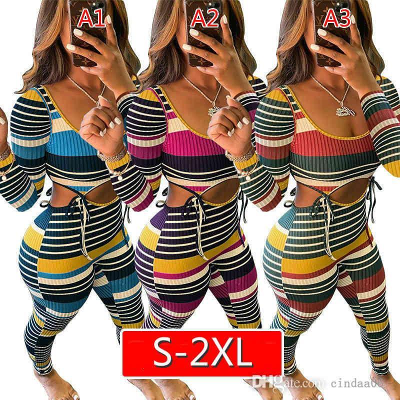مصمم المرأة حللا شريط الشريط الدانتيل يصل بذلة U- الرقبة أكمام سترة السراويل عرض الخصر سليم سليم الملابس XS-2XL
