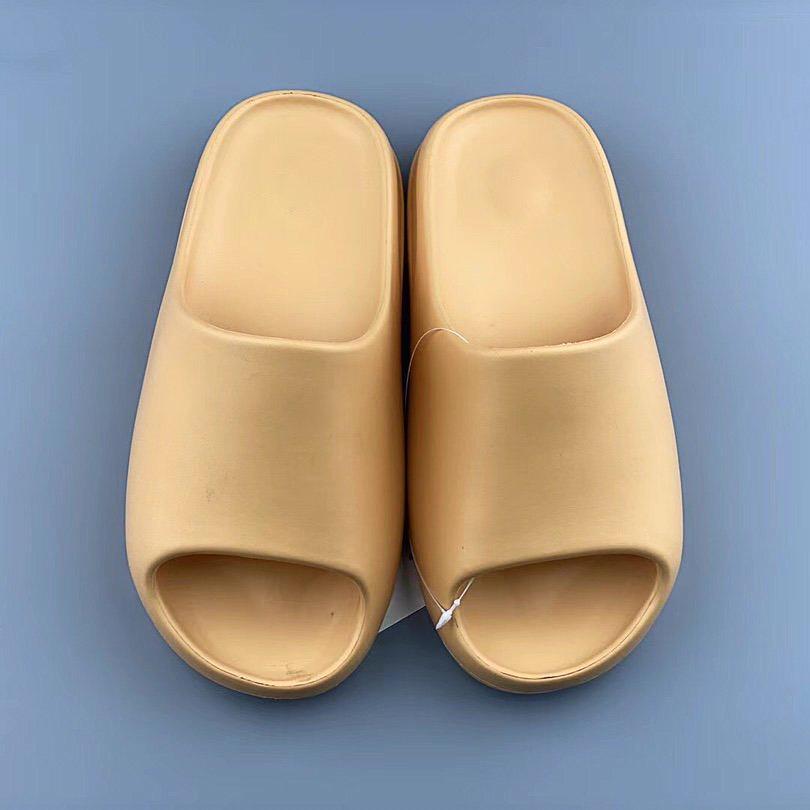 Bir çiftler için En Kaliteli Yaz Terlik Yapımı Düz Sandalet Tasarımcı Lüks Marka Klasik Sürükle Hindistan Cevizi Terlik Köpük Bir - Parça Kutusu Ile