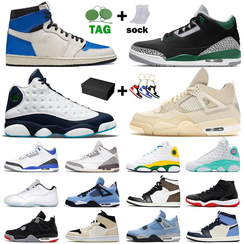 Nike Air Jordan Retro Off White 4 Cactus Jack Jumpman 1 Jorden أحذية كرة السلة للرجال والنساء Dark Mocha High Mid Dutch Green 11 Low Legend Blue Citrus 13 Black Cat UNC 3 المدربون