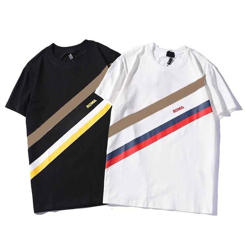 عارضة مصممين تي شيرت رجالي الملابس العلامة التجارية قمم تي شيرت أزياء الصيف المد السري خطابات مطبوعة فاخرة الرجال قميص الملابس QAQ
