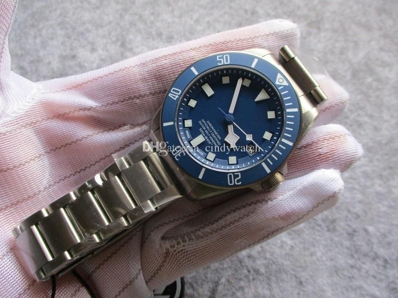 Подарочный резиновый ремешок 42 мм мужские часы Высочайшее качество издание титановый чехол браслет сапфир автоматический мужской наручные часы водонепроницаемого дайвера