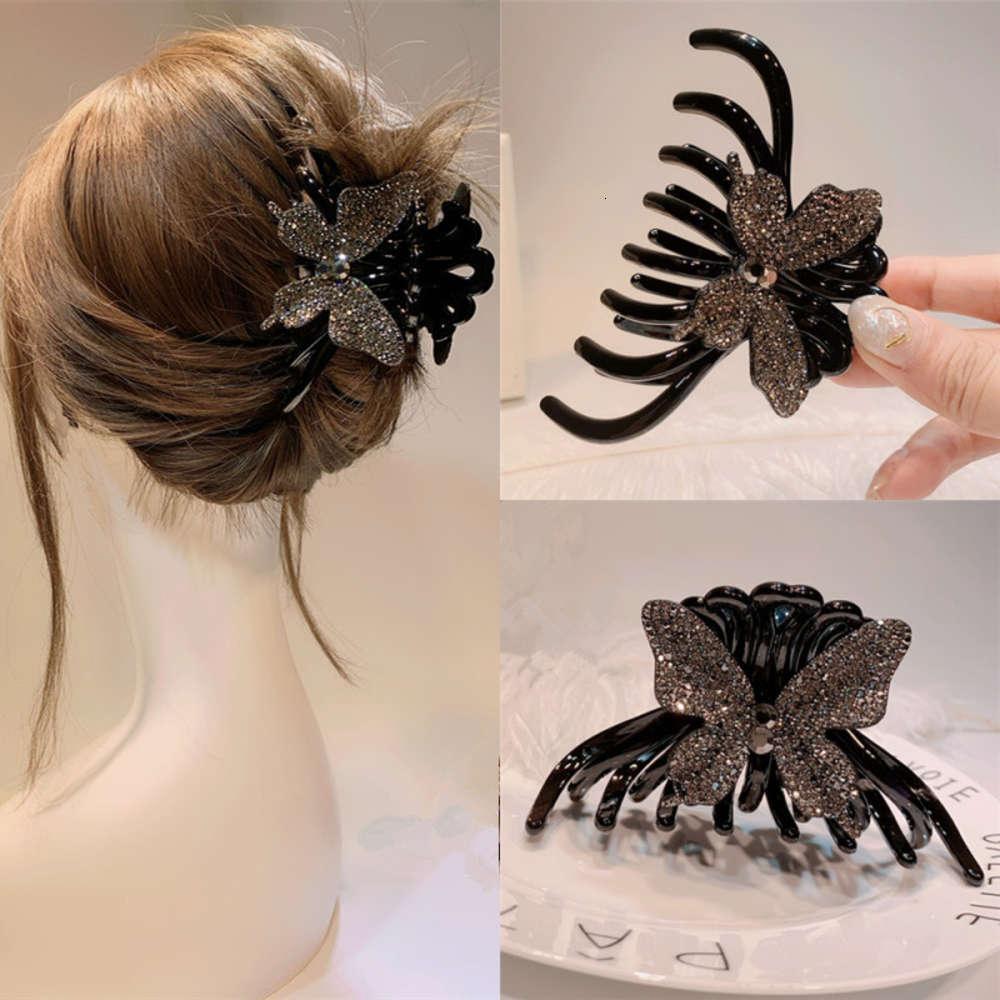 Schmetterlingsgriff Haarnadel Rückseite des Kopfes Große Acryl Haargriff Kopfschmuck Elegante Temperament Haarspleis