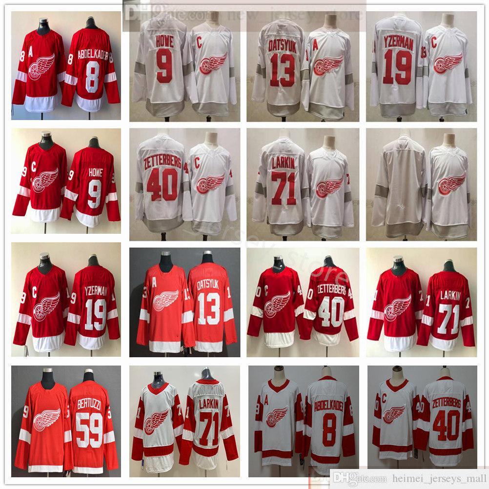 2021 Retro Detroit Red Wings Hóquei 71 Dylan Larkin Jerseys 13 Pavel Datsyuk 59 Tyler Bertuzzi Steve Yzerman Gordie Howe Henrik Zetterberg