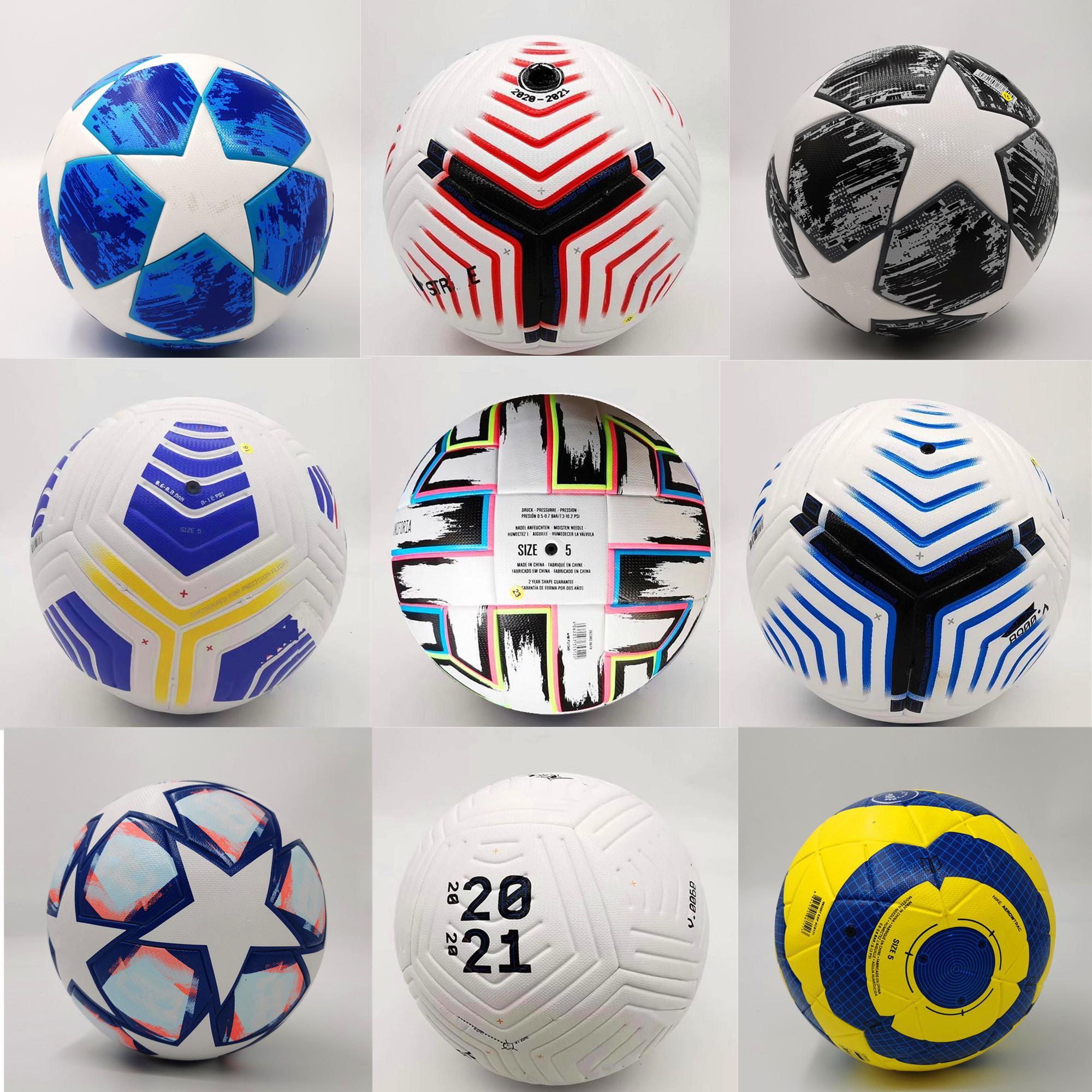 Premier League League كرة القدم UEFAS EURO 20 21 Kyiv Pu Size 5 2021 Serie A القطار المباراة الكبار حبيبات كرة القدم الخاصة