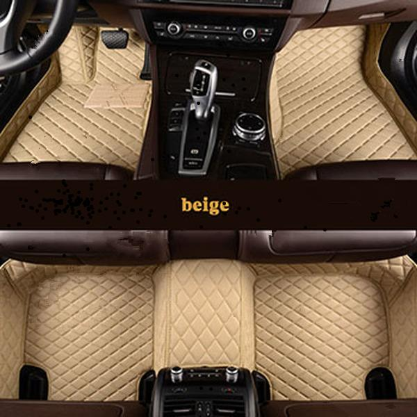 Leather Custom Auto floor Foot mat For Mitsubishi all models ASX outlander lancer pajero sport dazzle car styling g h r
