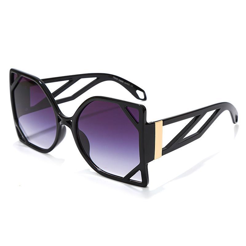 Rua moda óculos de sol verão homem mulher unisex sunglasses original personalidade quadro grande uv400 quadro completo 6 opção de cor