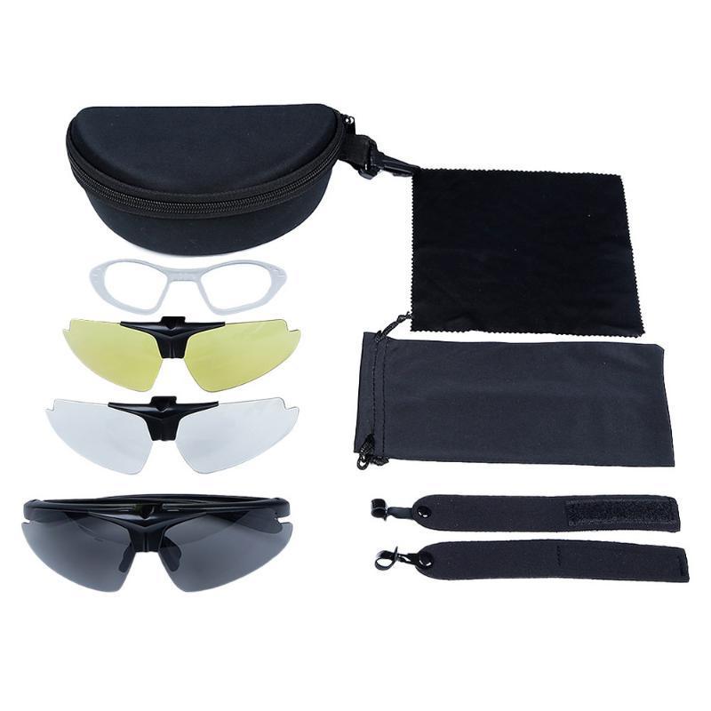 야외 안경 고글 안경 세트 스포츠 스키 CS 고글 공기를위한 방풍 오토바이 보호