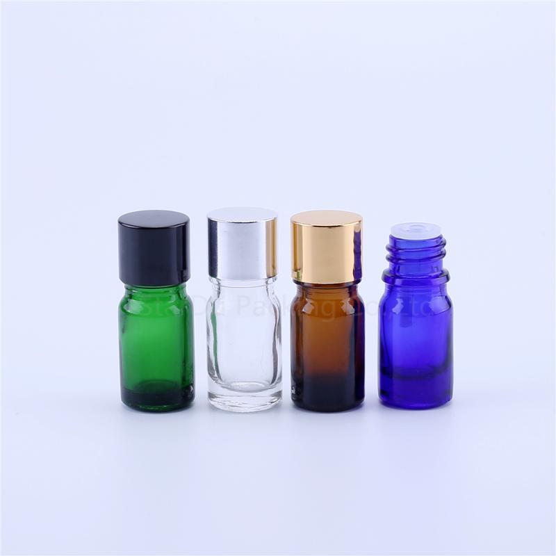 2 шт. 5 мл стеклянные бутылки Пустая бутылка для эфирных нефтяных парфюмерных жидкости держатель + крышка портативные хранения банки