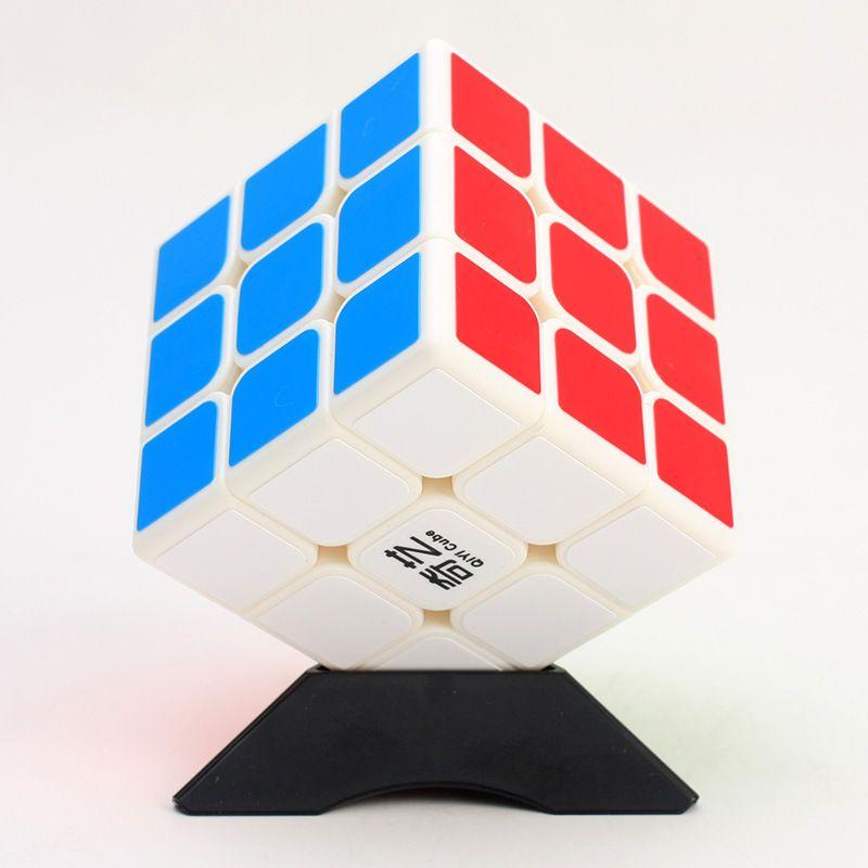 Qiyi sail w المكعبات السحرية ملصقا 3x3 الاحترافي سرعة الألغاز 3x3x3 مونتيسوري التعليمية لعبة للأطفال هدية
