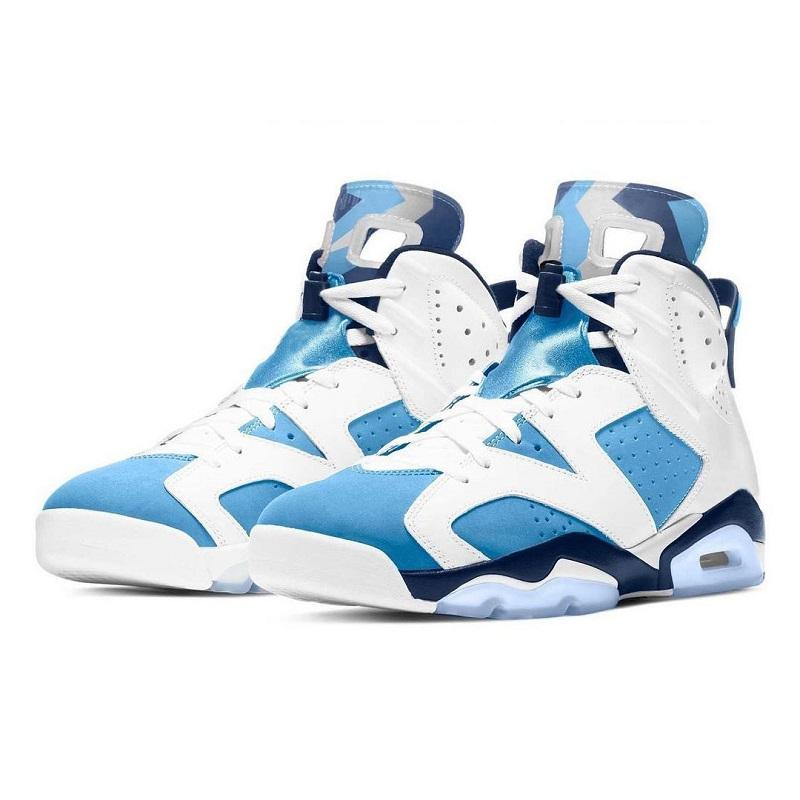 Con Box jumpman 6 UNC zapatillas de baloncesto para hombre University Blue White College Navy negro CT8529-410 6s zapatillas deportivas para hombre 40-47