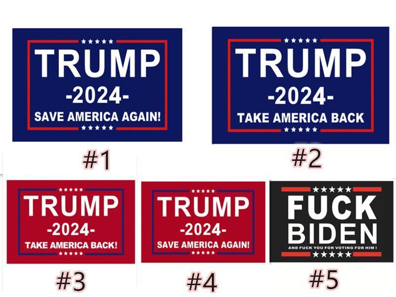 Трамп 2024 Избирательный флаг Баннер Держите Америку Великолепно снова Иванка Флаги 150 * 90см 13 стилей