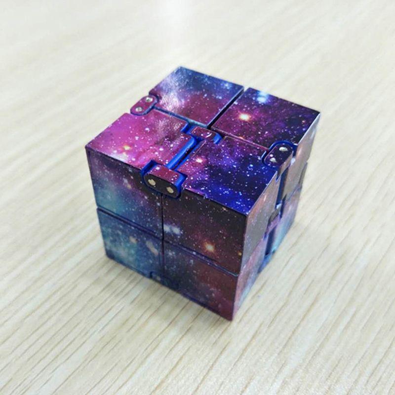 Hot Sky Infinity Cube Creative Sky Magic Fidget Cubes Antistress Toy Office Flip Cubic Puzzle Mini Blocks Decompression Funny Toys