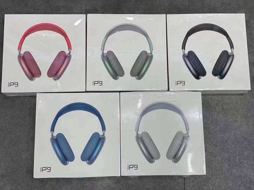 P9 Pro Max Nesil 3 Kulaklık Metal Menteşe Kablosuz Şarj Bluetooth Kulaklık GPS Kulakiçi 2nd Nesil Rename