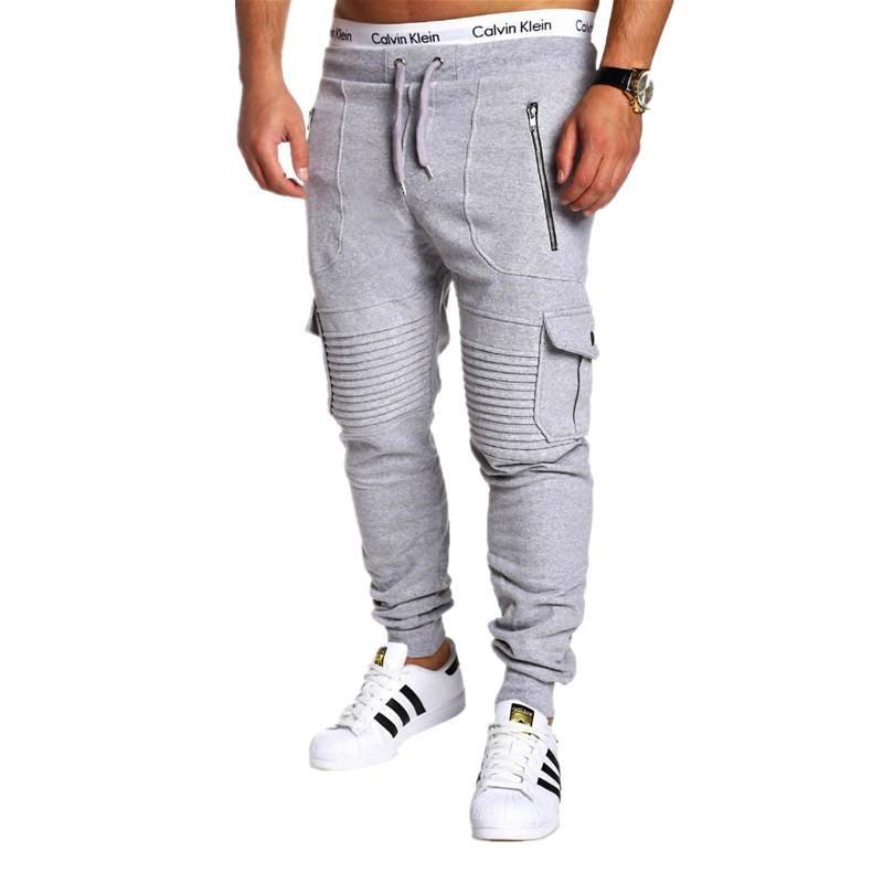 Men's Pants Men Fashions Joggers Casual Sweatpants Bodybuilding Fitness Track Sweat Trousers