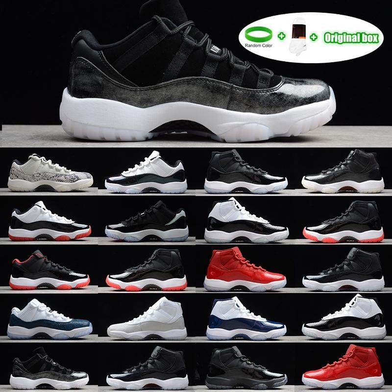 [Braccialetto + calze + scatola originale] Air Jordan 11 Jordans AJ11 shoes Jumpan Scarpe da basket da uomo Sneakers Gym  GS Midnight Navy 'Win Like 82' Spazio Spazio Jam Concord