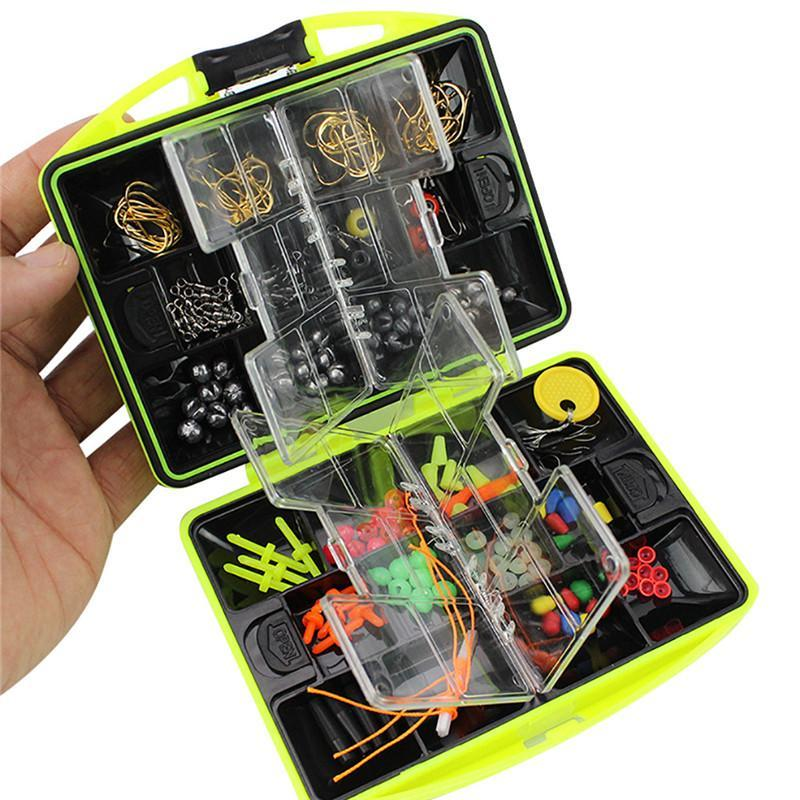 Multifunktionale Angelgerät-Kit-Haken-Löffel-Sinker-Zubehör-Box-Tools, das für Enthusiasten unerlässlich ist