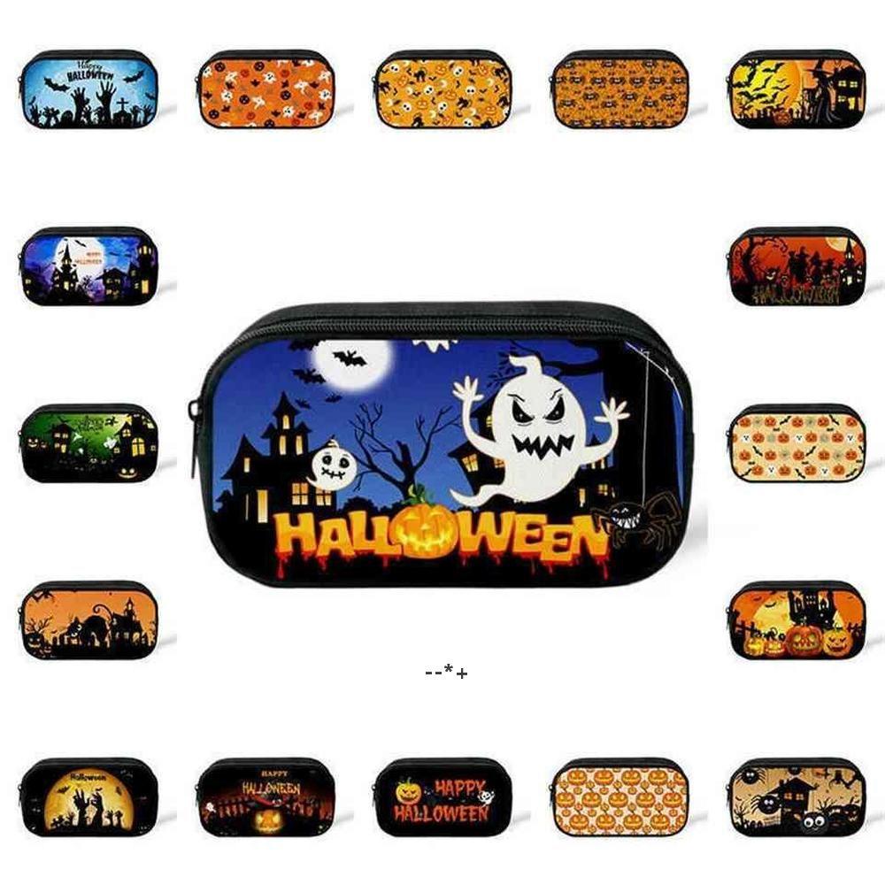 2021 Boîte à crayon de citrouille d'Halloween Hallowma Hallowma Ghost chapeau Design Étudiants Sac Sac Sac Sacs Sacs Maquillage Changer de poche Holiday HHE9728