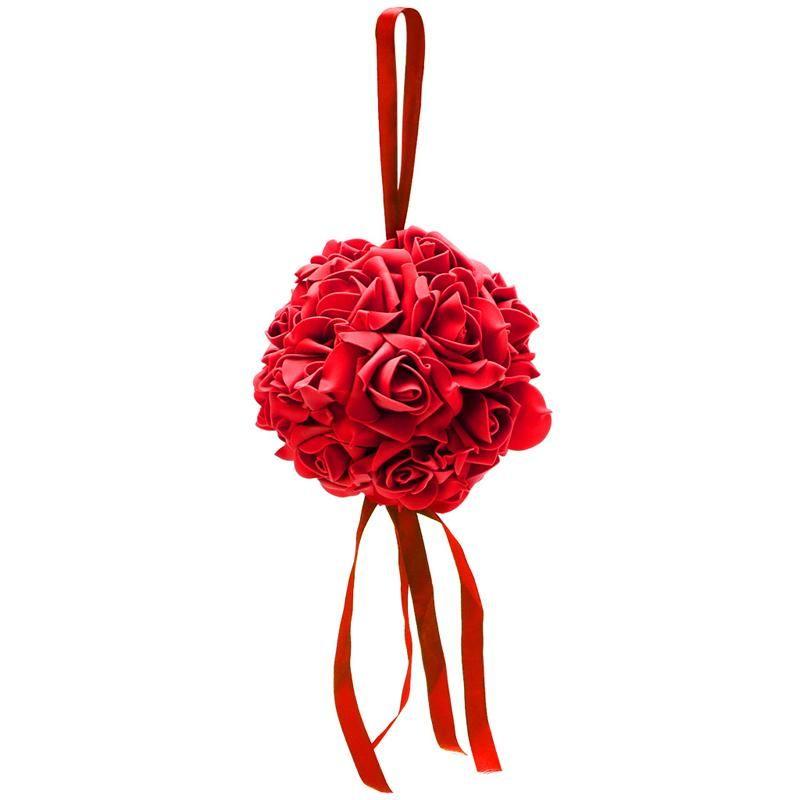 장식 꽃 화환 키스 포밍 공 공 로즈 양식 퓨 리본 웨딩 파티 용품