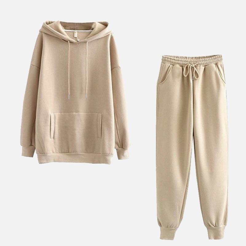 Accueil Suit Tracksuits Automne Winter Femme Ensembles Sweat-shirts Dames Sweat-shirt Sweat-shirt Deux Pièce Set Casual Sportswear Pantalon