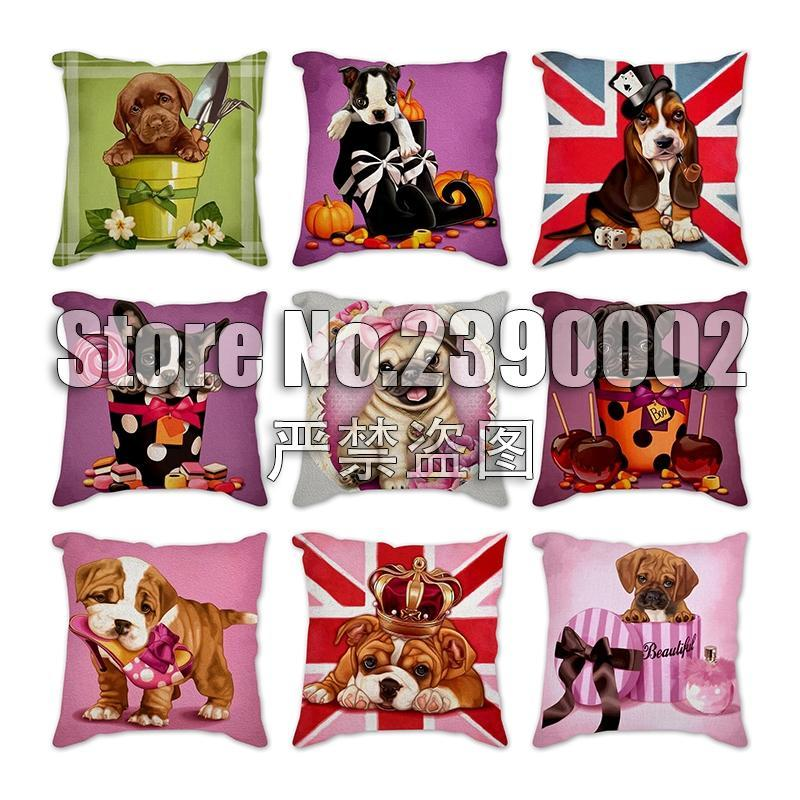Pillow Case Cartoon Animal Printed Throw Pillows Cushion Cover Decorative Dog High Heels Pumpkin Home Decoration Accessories Pillowcase