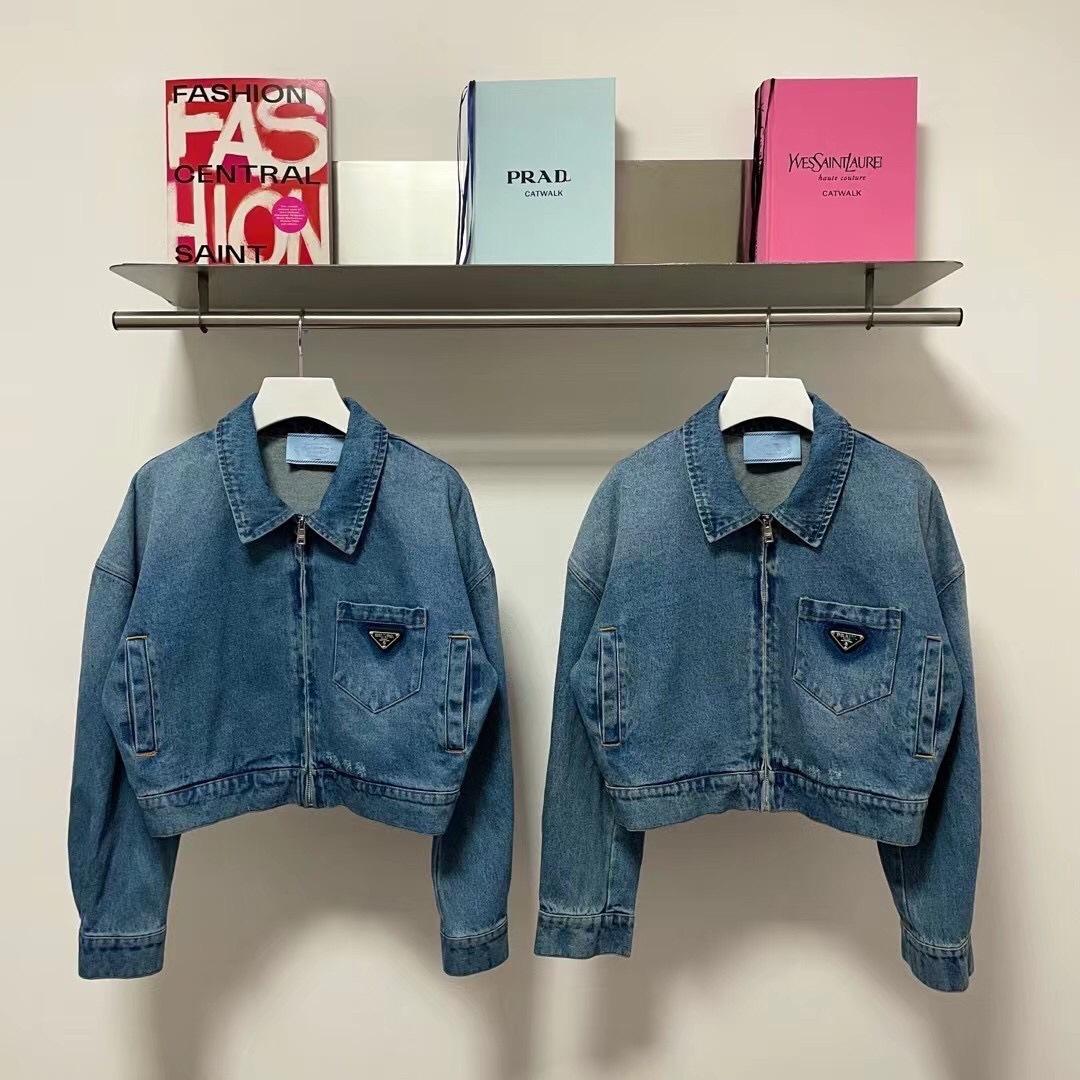 Новый перевернутый треугольник аппаратный джинсовая короткая куртка изношенная рендеринг женского стиля