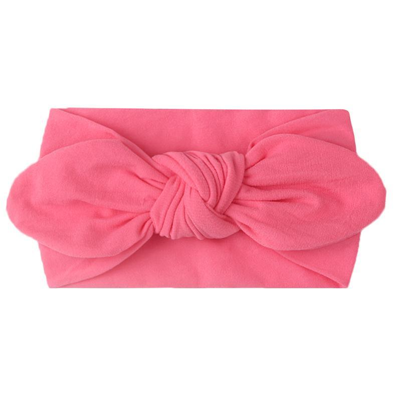 Hair Accessories Cute Sweet Baby Girl Headband Style Solid Color Lovely Ear Elastic Soft Nylon