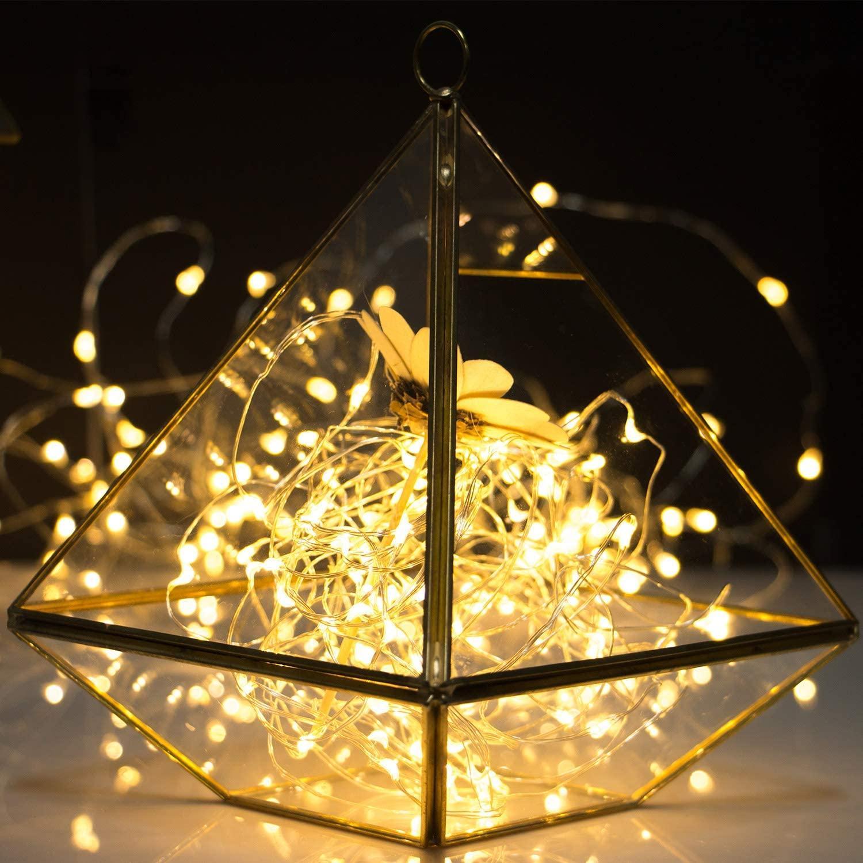 10 pcs 1M 2M 3m 5m fio de cobre conduzido luzes de luzes de luzes de luzes de iluminação de fadas para a árvore de Natal árvore de casamento decoração lâmpada