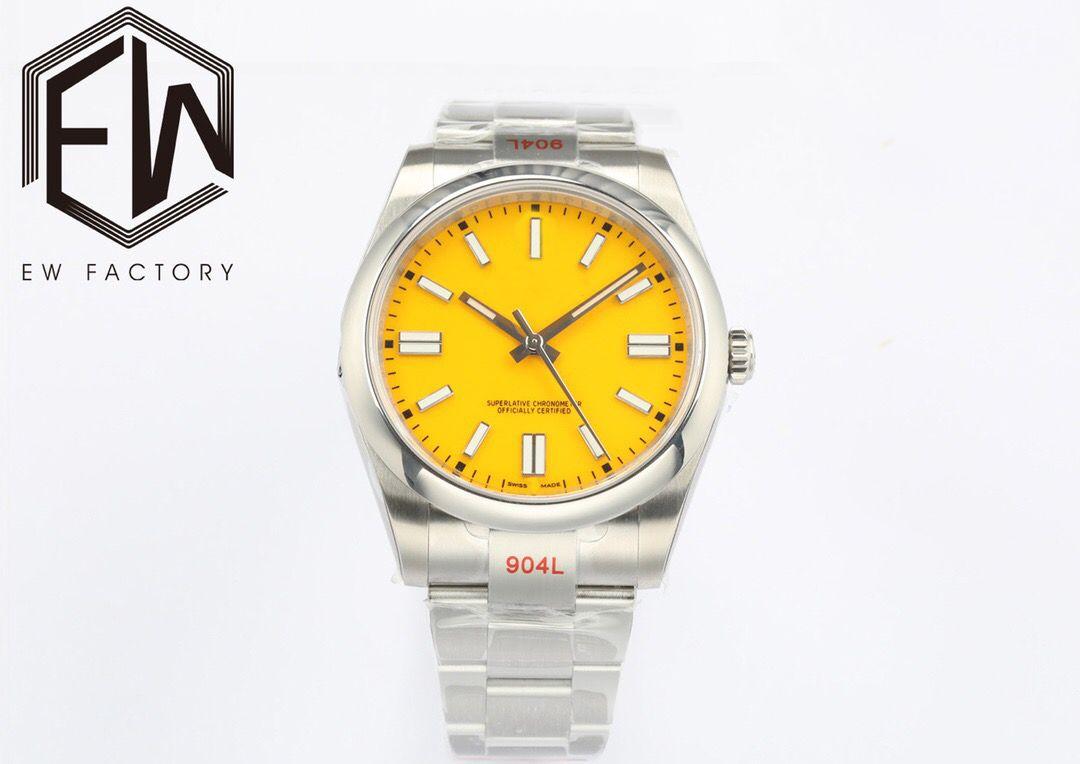 톱 EW 공장 남성 시계 사파이어 시계 ETA 3230 무브먼트 41mm 모델 904L 스테인레스 스틸 방수 10ATM 패션 빛나는 자동 기계 손목 시계