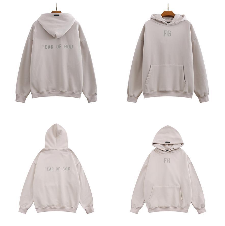 Brouillard chaud essentiels hip hop manches longues ESS gris designer hommes sweatwear pull Sweatshirts pulls épais surdimensionné hommes sweat-shirt crewneck