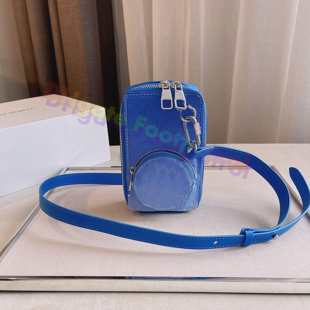 2021 الأزياء التدرج اللون مطبوعة أكياس الهاتف المحمول الكلاسيكية حقائب crossbody المصممين حقيبة الكتف حقيبة الكتف مصغرة محفظة جيب مخلب محفظة سيدة اليد رفرف