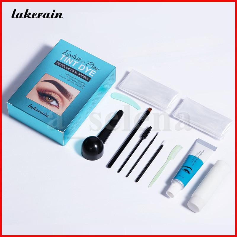 Lackain Professional Eye Brows Enhancer Makeup Cosmetici Lunga durata Nero Nero Marrone Tinta Tinta Tintura Vernice Vernice Mascara Colore Colore Sopracciglio Gel Cream