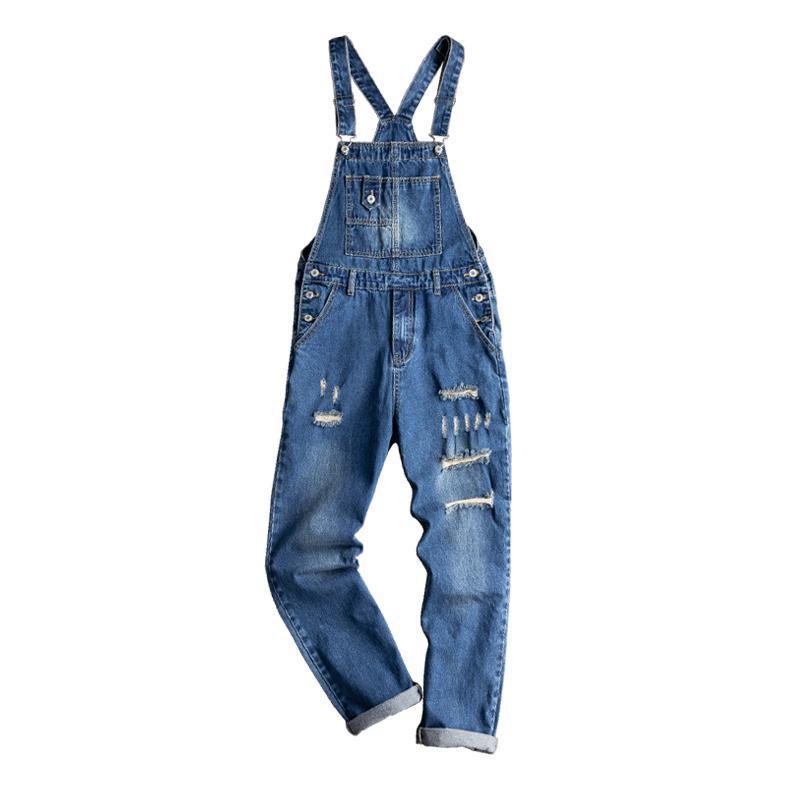 Tuta da uomo Retro Tide Tide Brand Denim Straight Slide Breenders versione coreana dei jeans per gli uomini