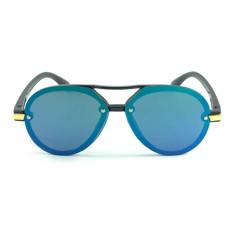 Kinder ovale runde Pilot Sonnenbrille coole UV400 Gläser einfache saubere Rahmenabdeckung Übergroße Spiegellinsen fix von niet