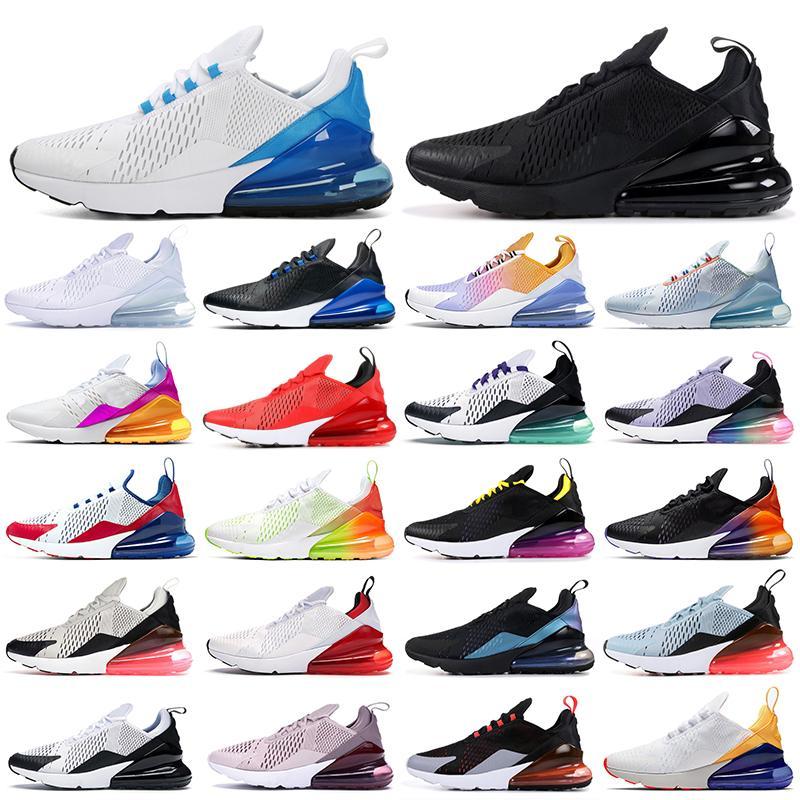 270 Chaussures de course Triple Noir Blanc Rouge Femmes Hommes Chaussures Bred Sois réalité à peine rose 270s Baskets de sport en plein air