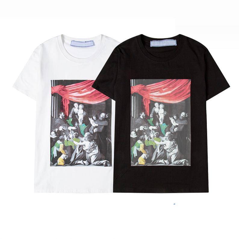 21ss Erkek Kadın Tasarımcılar T Shirt Kapatları Gevşek Tees Moda Adam S Casual Gömlek Luxurys Giyim Sokak Şort Kol Beyaz Giysiler Tişörtleri