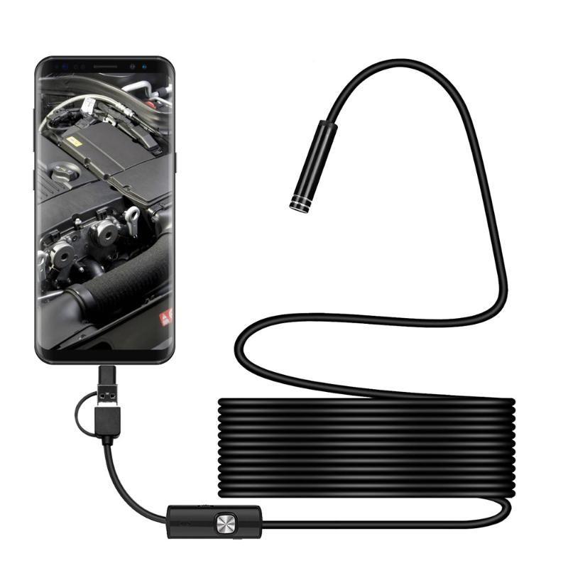 Cameras 8.0Mm Endoscoop Camera 1080P Hd Usb Met 8 Led 1/2/5M Kabel Waterdichte Inspectie Borescope Voor Android Pc