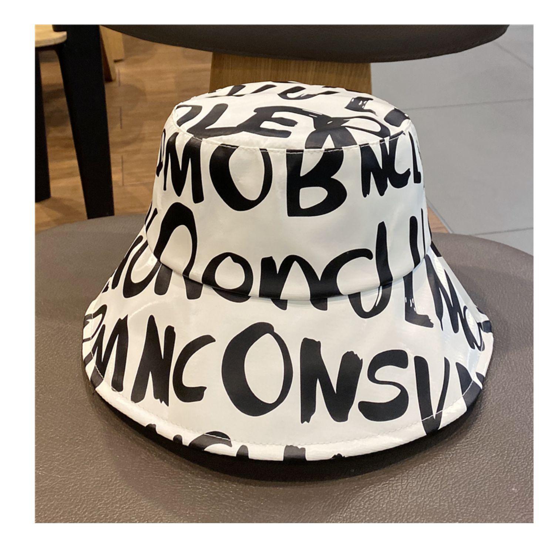 2021 Bucket Hat spring and summer internet celebrity English fashion designer caps men PU skin british cap street leisure women Stingy Brim Hats