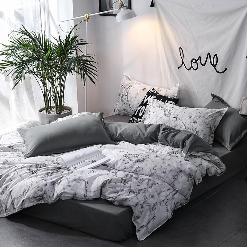Bettwäsche-Sets 45 Bettdecke Set Bettbezug Königin King Nordic Bettwäsche Bettwäsche Quilt Kissenbezug Home Decoration Textil
