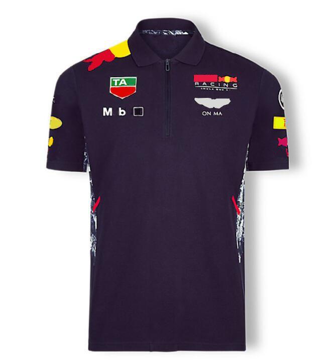 F1 Fórmula One Racing Traje de Coche Equipo Logo Fábrica Uniforme Polo Camiseta de manga corta Hombres y mujeres pueden ser personalizados 2021