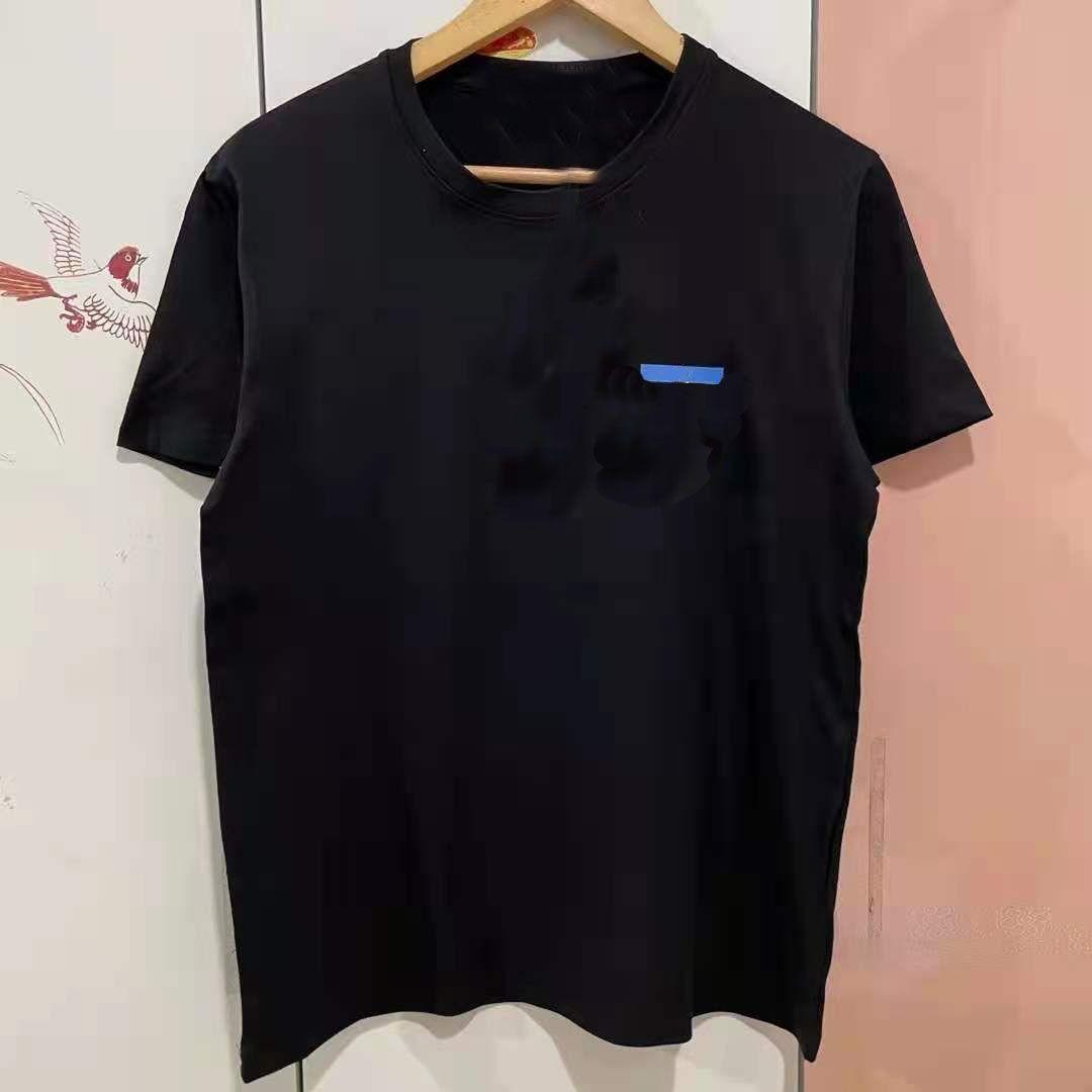 블루 편지 패턴 S-5XL 코튼 망 T 셔츠 크고 키가 큰 크기의 부드러운 여자 티셔츠 흑인 여성 패션 여름 멋진 Tshirts 탑 소매 셔츠