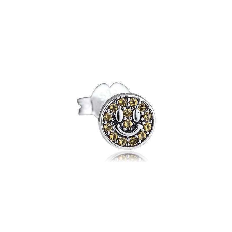 My Smile Single Stud Earrings Pendientes Kolczyki Aretes De Mujer Earing For Women 925 Sterling Silver Jewelry