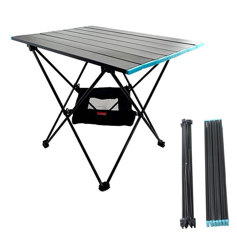 Table de pliage extérieure ultra-légère de meubles de camp avec sac en tissu Oxford et support de jambe en alliage en aluminium net