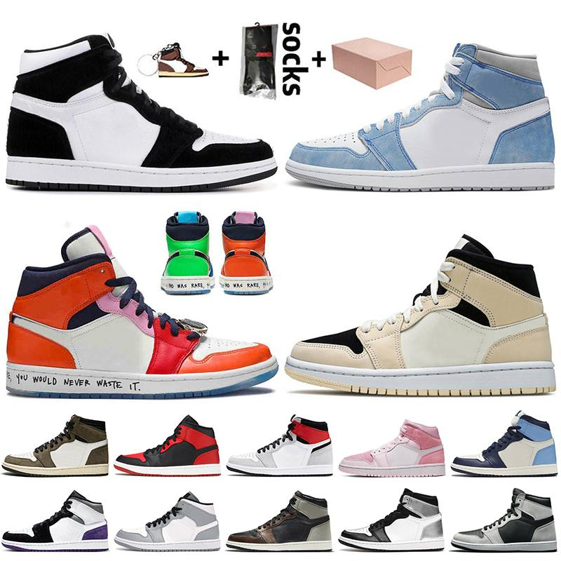 nike air jordan retro 1 jumpman 1 travis scott 1 1s off white 2020 أحذية كرة السلة النسائية الرجالية عالية OG bio hack mid بدون خوف أحذية رياضية للمدربين شيكاغو
