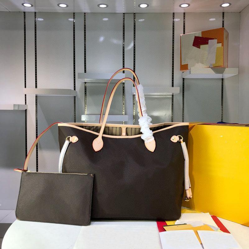 2 Adet / takım Yüksek Qulity Klasik Luxurys Tasarımcılar Çanta Bayan Çanta Çiçek Bayanlar Kompozit Tote PU Deri Debriyaj Omuz Çantası Kadın Çanta