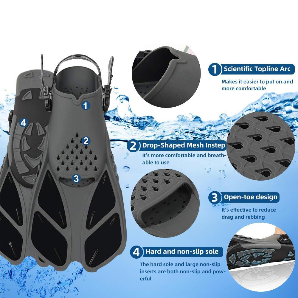 Copozz Professionnel Pied de plongée de plongée de plongée de plongée de plongée en apnée adulte adulte adulte nage de nage de nage de nage Pers natation Matériel SQCXTH Home2006