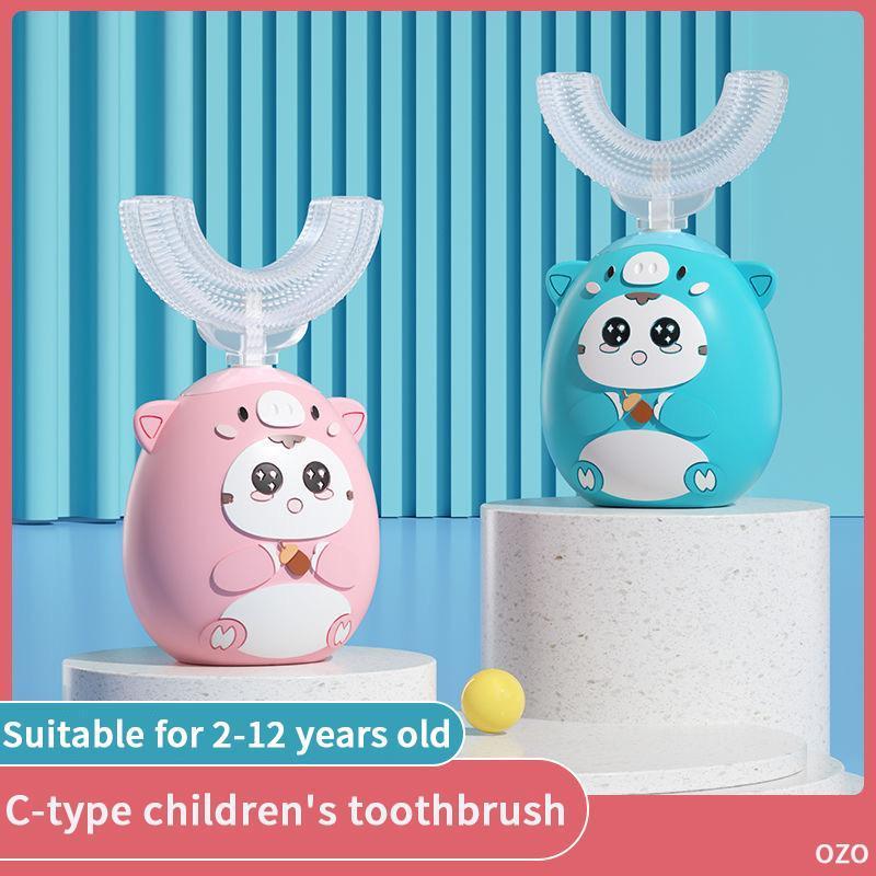 Spazzolino da denti per bambini Xaomi c Cartoon Pattern con morbido Sostituzione della testa di spazzola intelligente