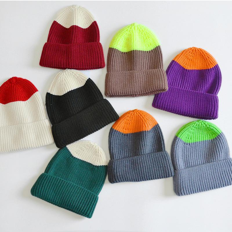 Beanies Fashion Good Quality Warm Soft Kids Baby Cap Hat Autumn Winter Toddler Children Cool Knitted For Boy Girl