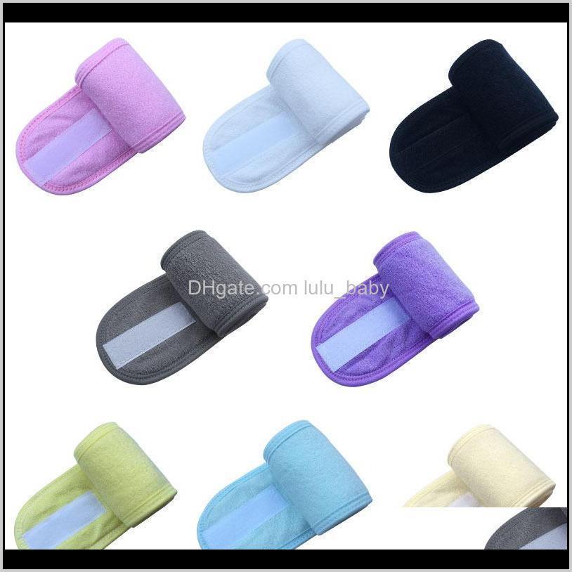 Kozmetik Wrap Tiara Türban Yüz Yıkama Ayarlanabilir Yoga Kadınlar Yüz Havlu Banyosu Hairband Makyaj Bantlar Spa Salon Aksesuarları 100 adet KDUZ8