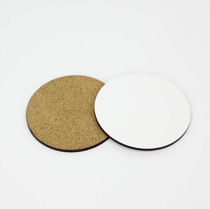 Diy Sublimation Blank Wooden Insulated Cork Cup Mat Mdf Advertising Gift Promotion Semi-finished Mats & Pads
